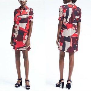 Banana Republic 70s Abstract Shirt Dress